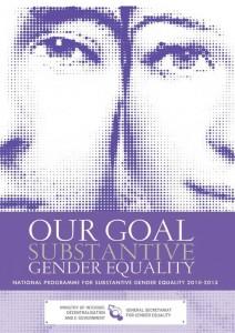 National Programme for Substantive Gender Equality 2010-2013